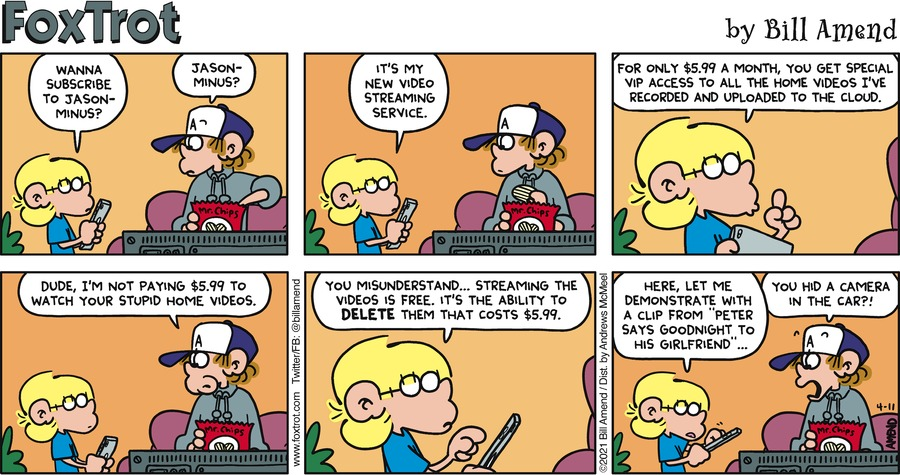 FoxTrot Comic Strip for April 11, 2021