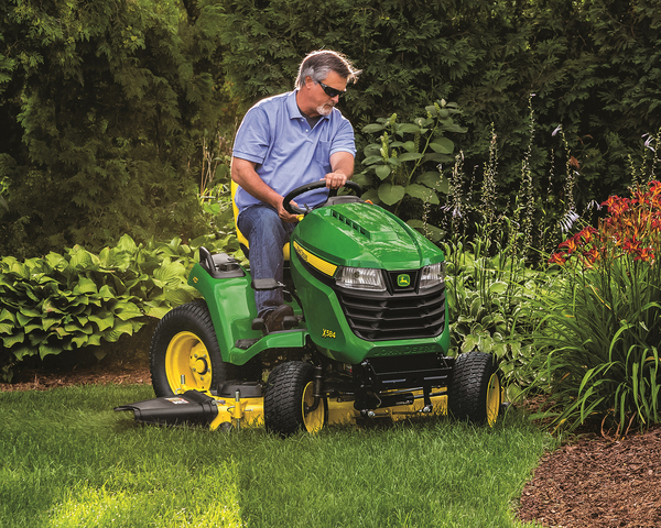 Lawn tractors are comfortable mowers, with cutting decks up to about 54 inches. They are designed to mulch grass clippings efficiently, but new models can switch easily from from mulching to blowing clippings out the side. Bagger attachments are available.