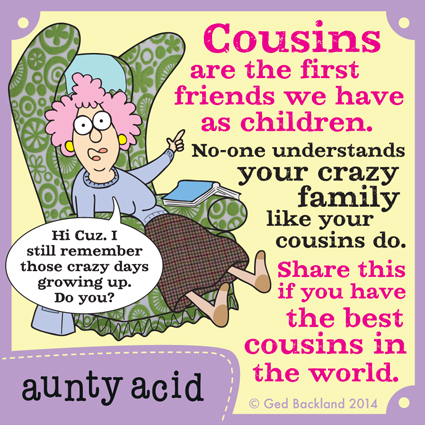 Cousins are the first friends we have as children. No-one understands your crazy family like your cousins do. Share this if you have the best cousins in the world.