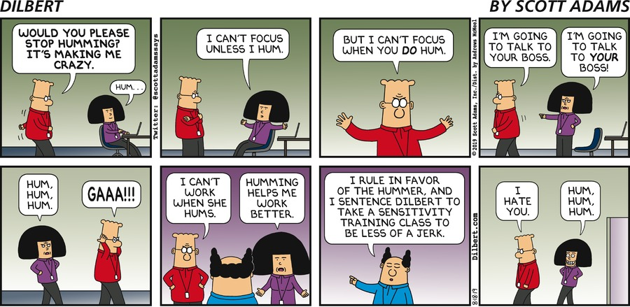 Tina Likes To Hum - Dilbert by Scott Adams