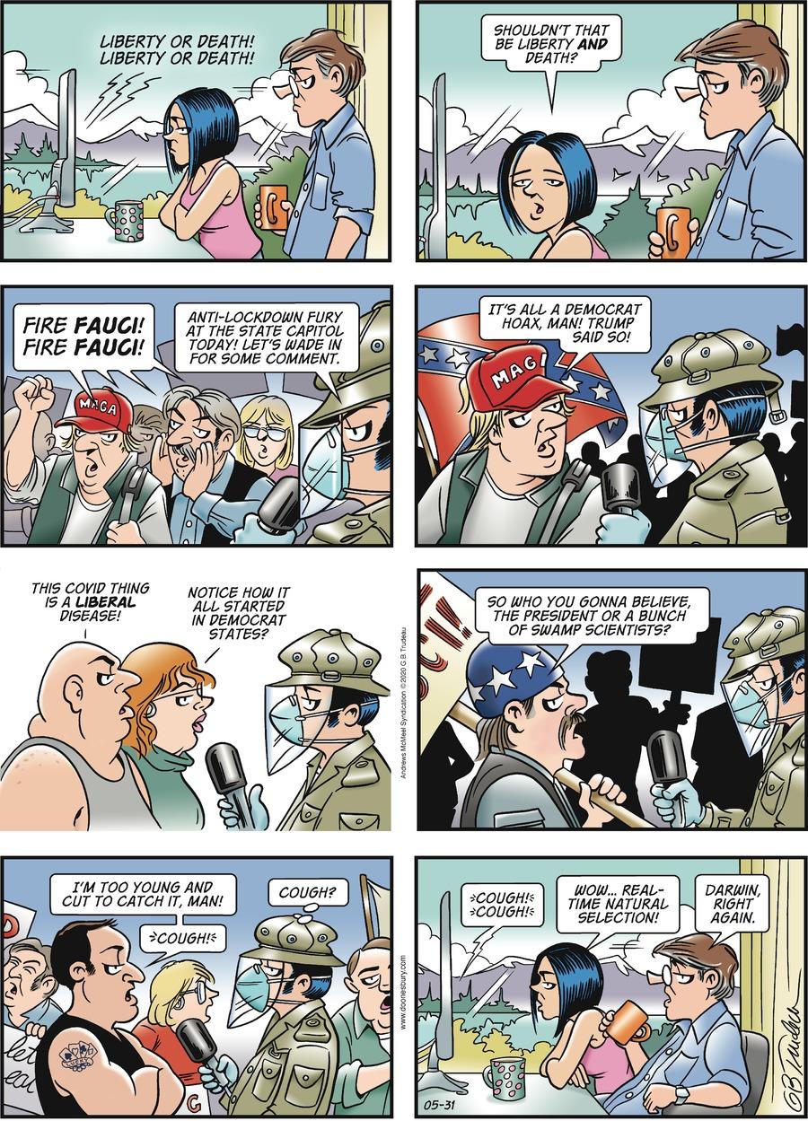 Doonesbury Comic Strip for May 31, 2020
