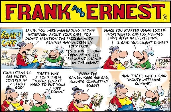 Frank and Ernest on Sunday September 14, 2014 Comic Strip