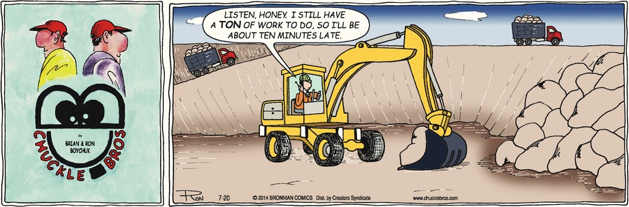 Chuckle Bros Comic Strip for July 20, 2014