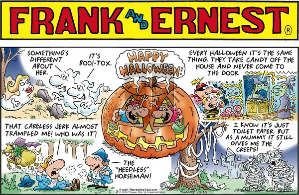 Frank and Ernest on Sunday October 30, 2016 Comic Strip