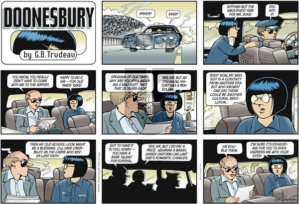 Doonesbury on Sunday September 7, 2008 Comic Strip