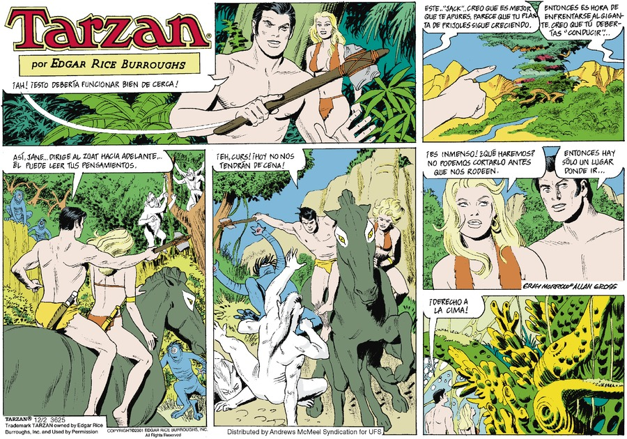 Tarzan en Español by Edgar Rice Burroughs for December 02, 2018