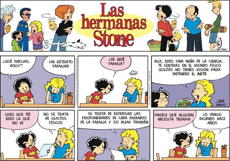 Las Hermanas Stone for Oct 1, 2017 Comic Strip