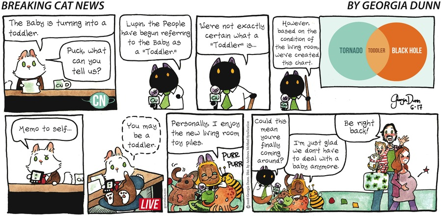 Breaking Cat News for Jun 17, 2018 Comic Strip