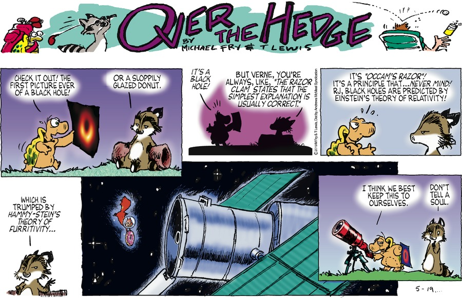 Over the Hedge Comic Strip for May 19, 2019