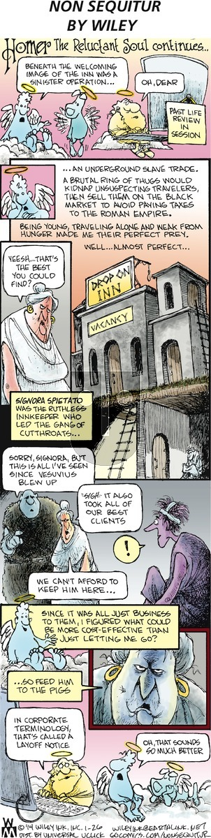 Non Sequitur on Sunday January 26, 2014 Comic Strip
