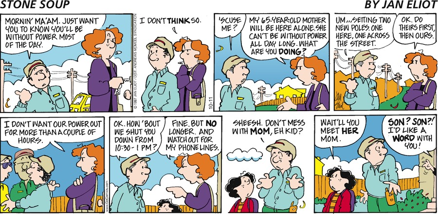 Stone Soup Comic Strip for October 11, 2020