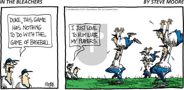 In the Bleachers on Sunday May 8, 2011 Comic Strip
