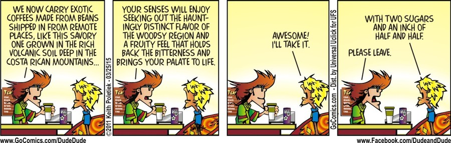 Dude and Dude Comic Strip for March 25, 2015