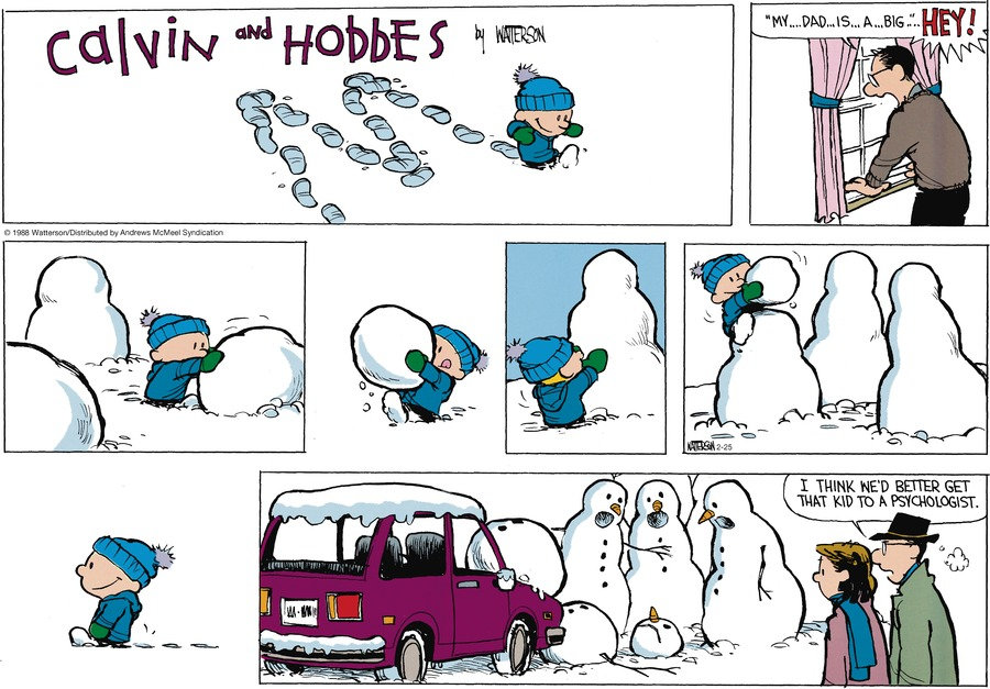 Calvin and Hobbes Comic Strip for February 25, 2018