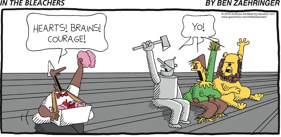 In the Bleachers Comic Strip for October 27, 2019