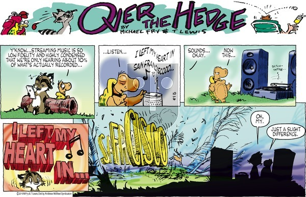 Over the Hedge on Sunday October 6, 2019 Comic Strip