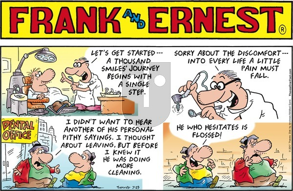 Frank and Ernest on Sunday July 23, 2017 Comic Strip