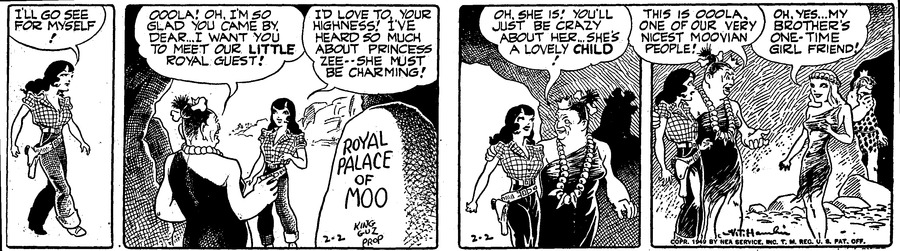 Alley Oop Comic Strip for February 02, 1949