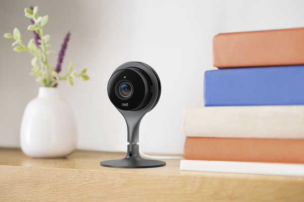 The Nest Cam indoor security camera is designed to livestream video from your home to be viewed on a mobile device. Retails for $199.