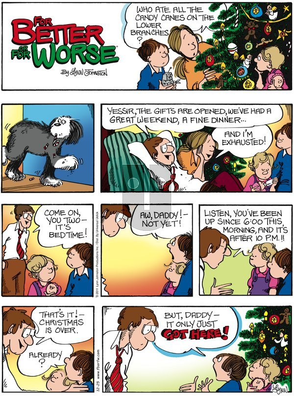 For Better or For Worse - Sunday December 25, 2011 Comic Strip
