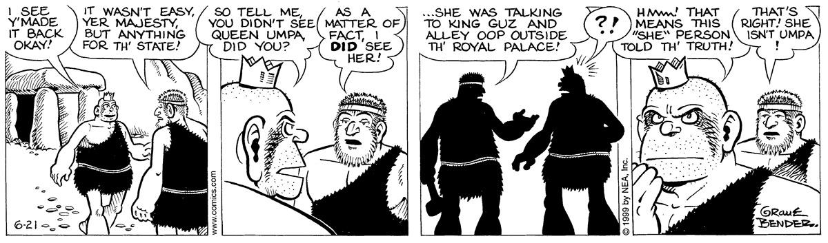 Alley Oop for Jun 21, 1999 Comic Strip