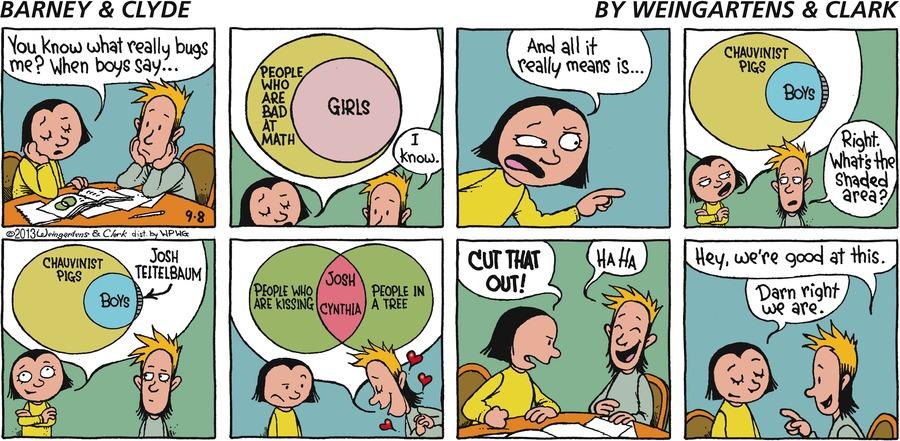 Barney & Clyde Comic Strip for September 08, 2013