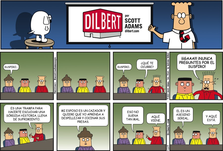 Dilbert en Español Comic Strip for April 21, 2019