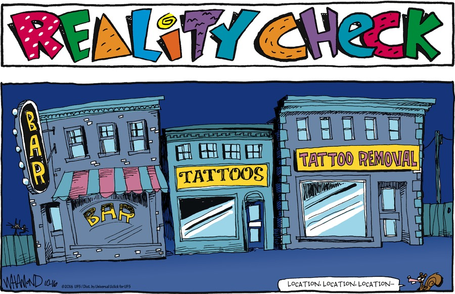 Reality Check Comic Strip for October 16, 2016