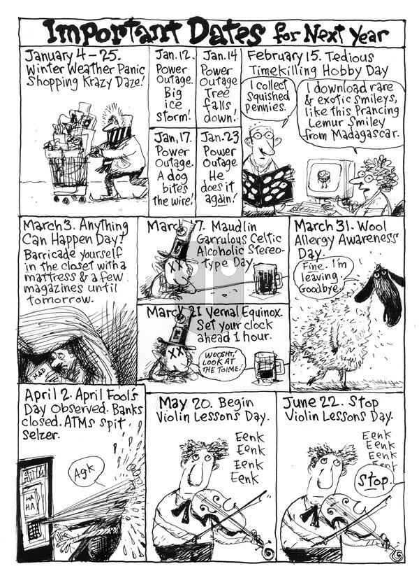 Richard's Poor Almanac - Sunday December 27, 2015 Comic Strip
