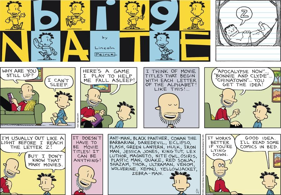Big Nate by Lincoln Peirce on Sun, 14 Feb 2021