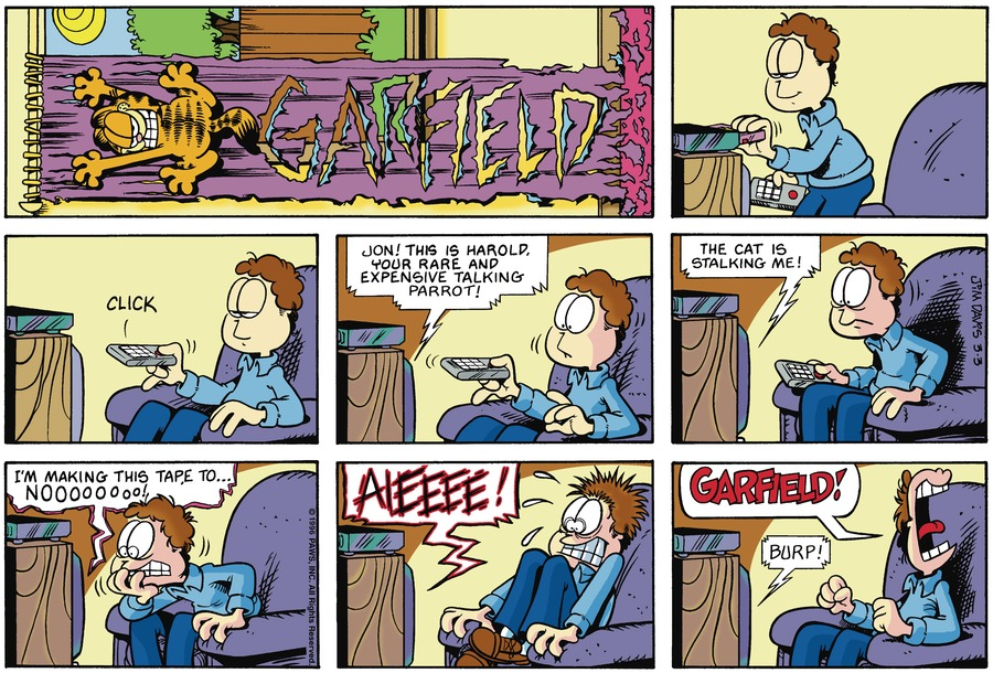 Garfield Comic Strip for March 03, 1996
