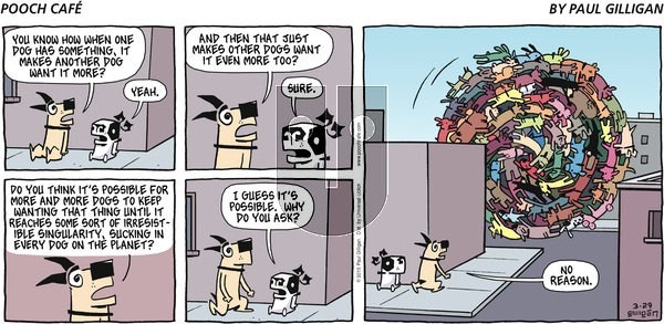 Pooch Cafe on Sunday March 29, 2015 Comic Strip