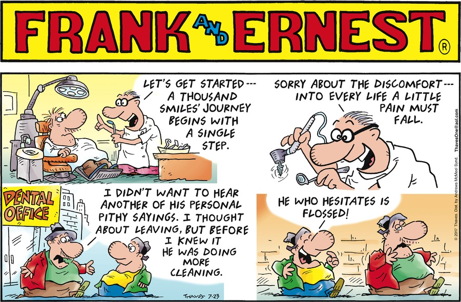 Frank and Ernest Comic Strip for July 23, 2017