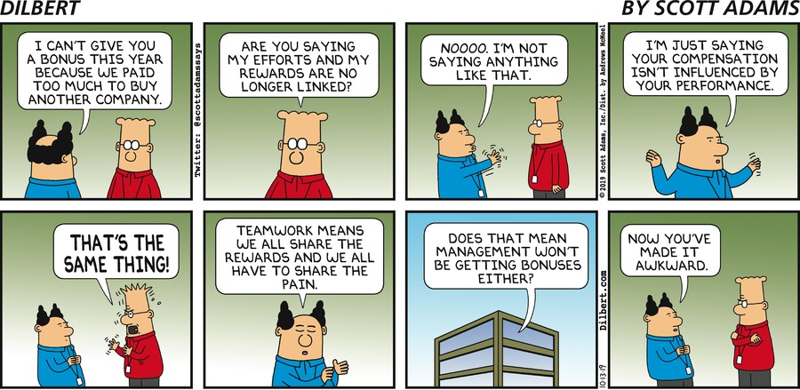 Performance Versus Pay - Dilbert by Scott Adams
