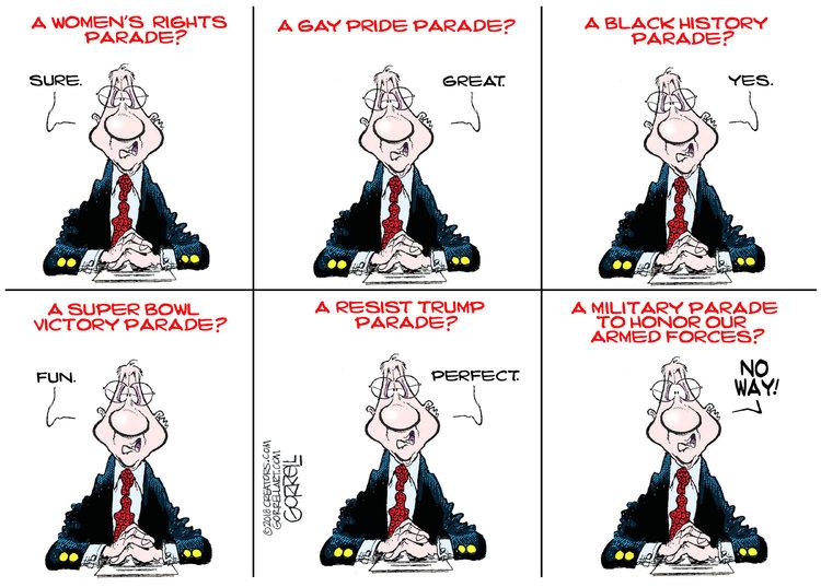 Bob Gorrell for Feb 13, 2018 Comic Strip