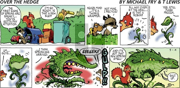 Over the Hedge on Sunday March 19, 2017 Comic Strip