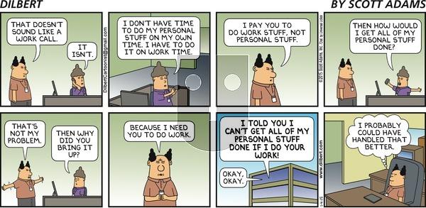 Dilbert on Sunday January 4, 2015 Comic Strip