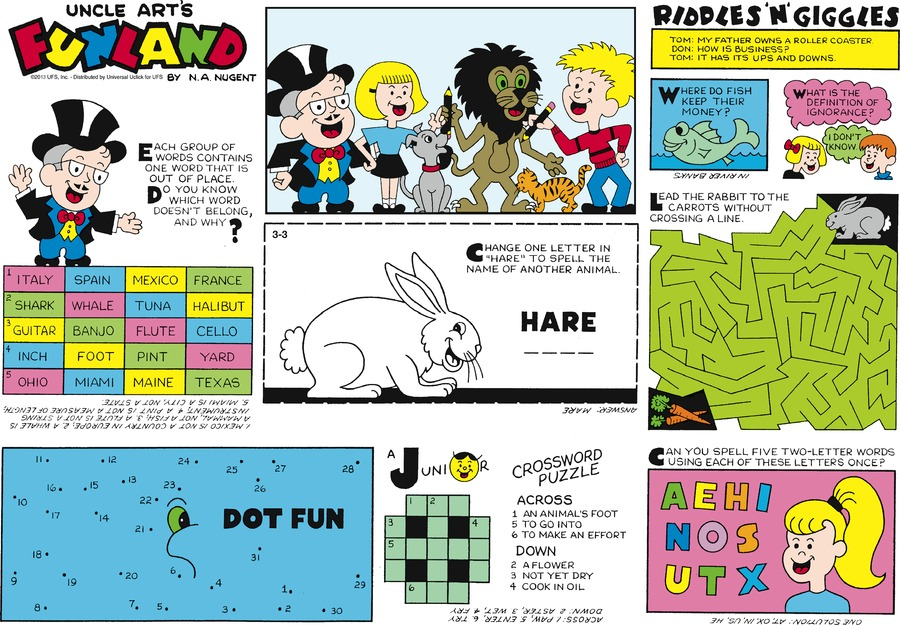 Uncle Art's Funland for Mar 3, 2013 Comic Strip