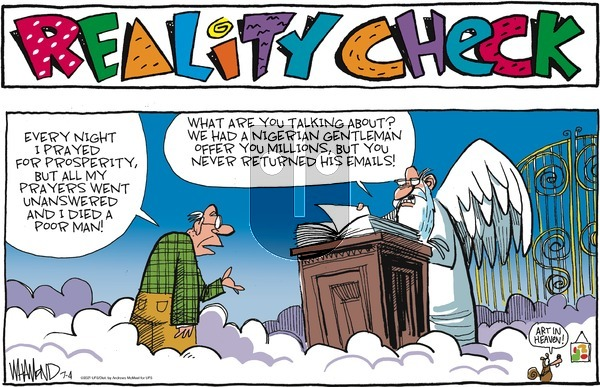 Reality Check on Sunday July 4, 2021 Comic Strip
