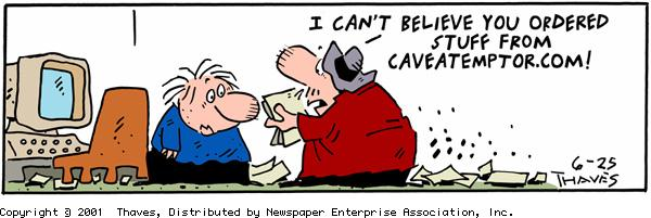Frank and Ernest Comic Strip for June 25, 2001