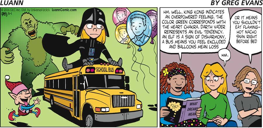 Luann Comic Strip for May 01, 2016