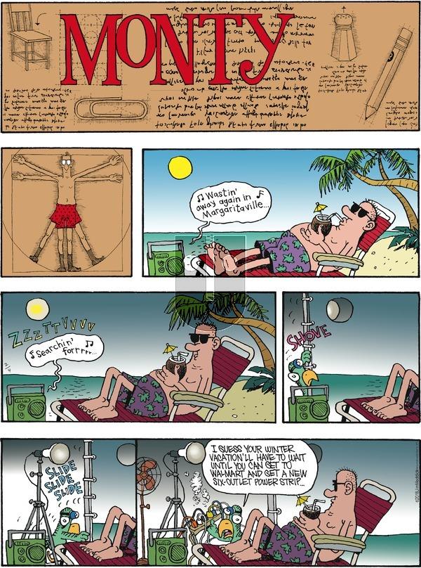 Monty on Sunday February 4, 2018 Comic Strip