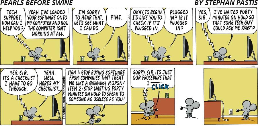 Pearls Before Swine for Feb 21, 2016 Comic Strip