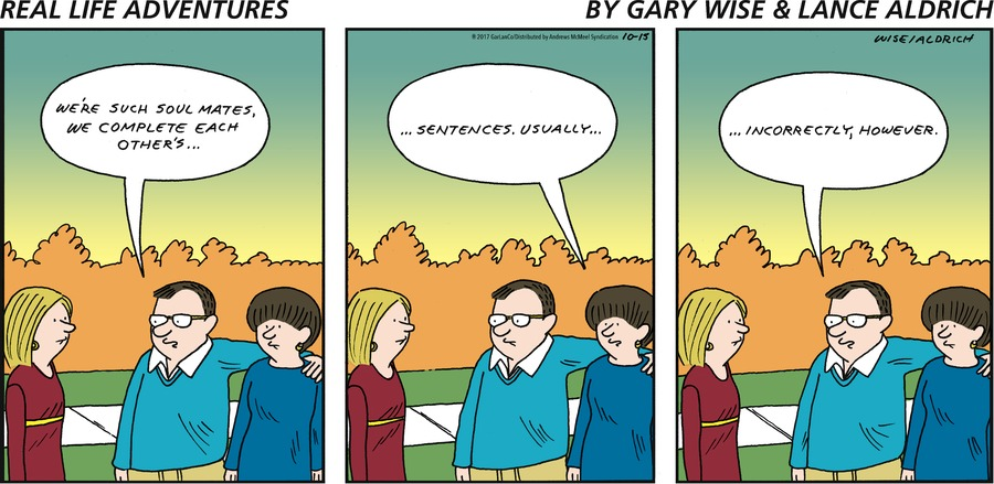 Real Life Adventures for Oct 15, 2017 Comic Strip