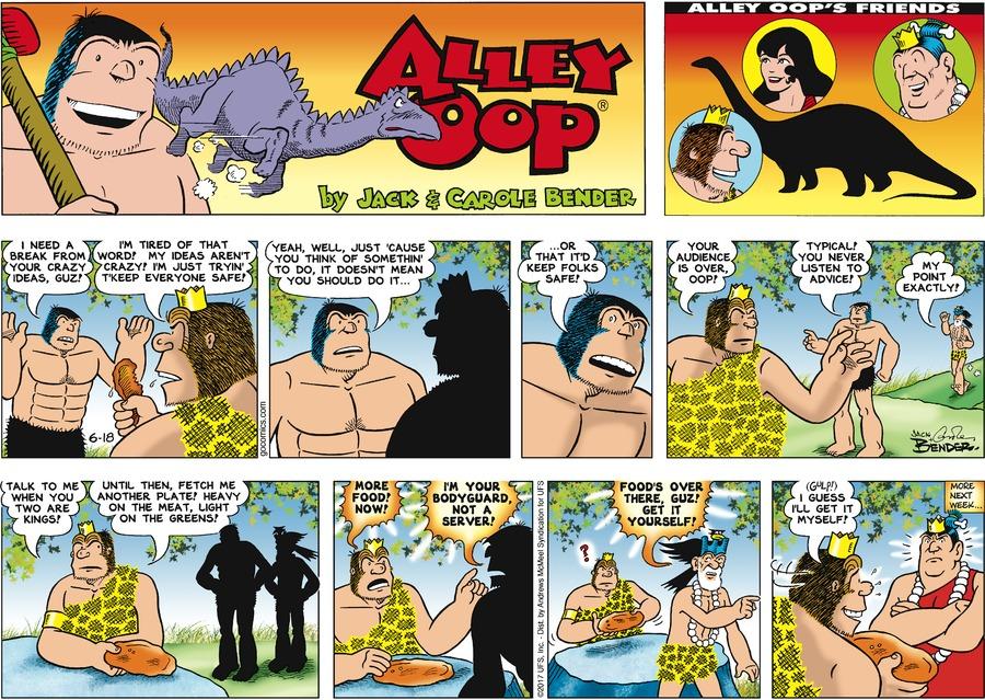 Alley Oop for Jun 18, 2017 Comic Strip
