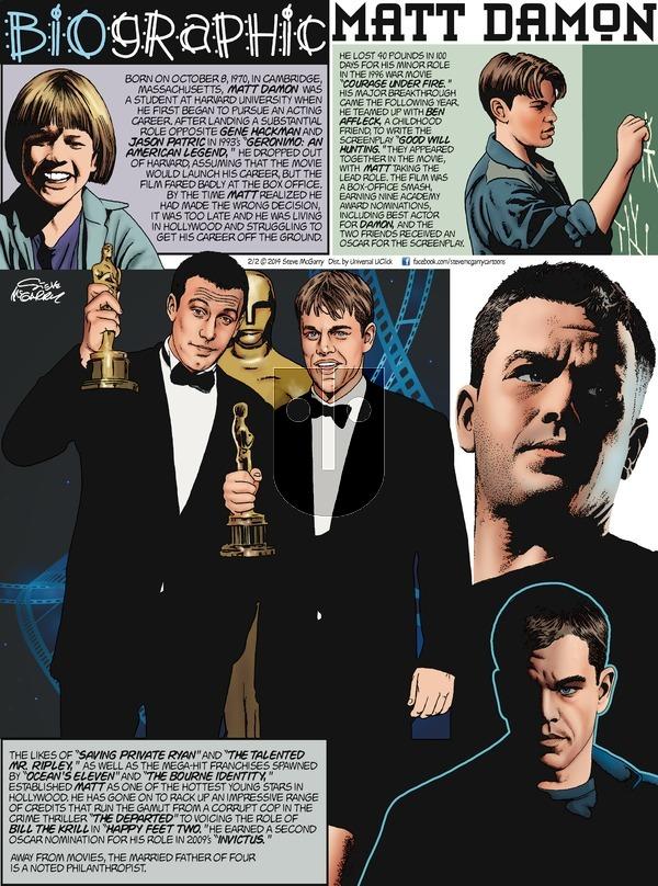Biographic on Sunday February 2, 2014 Comic Strip