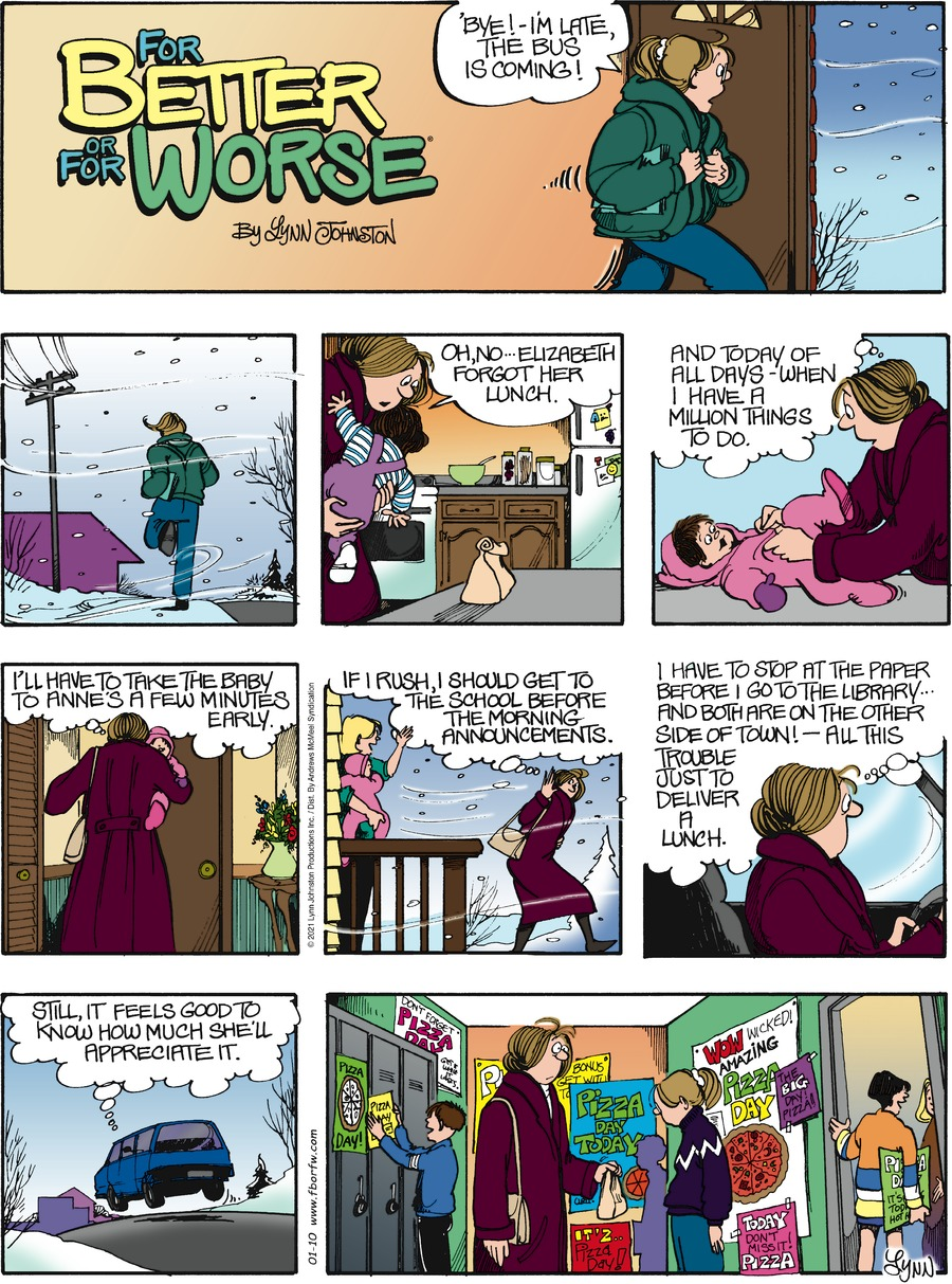 For Better or For Worse Comic Strip for January 10, 2021