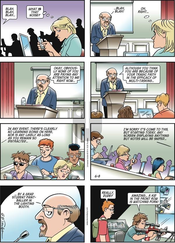 Doonesbury on Sunday June 8, 2014 Comic Strip