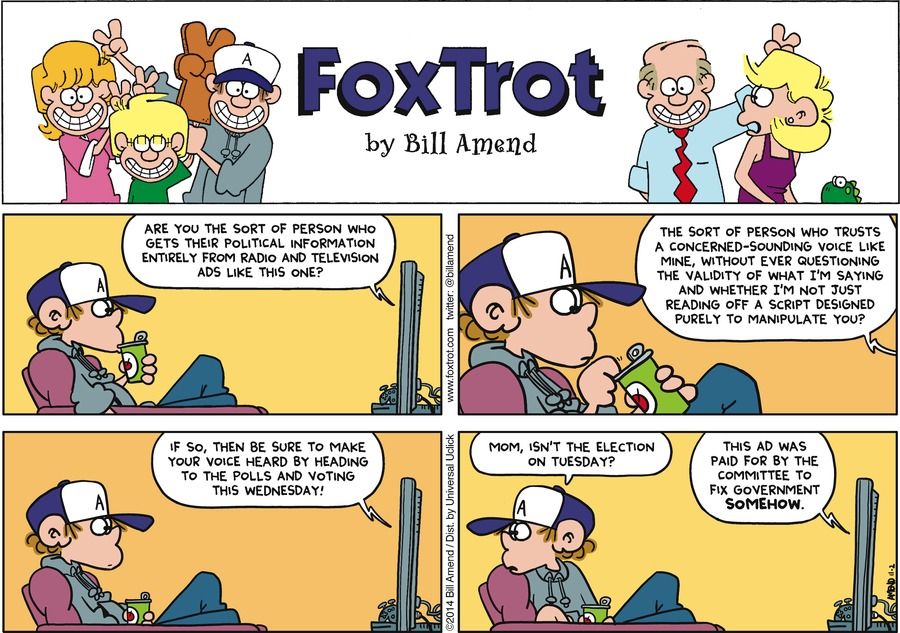 FoxTrot Comic Strip for November 02, 2014