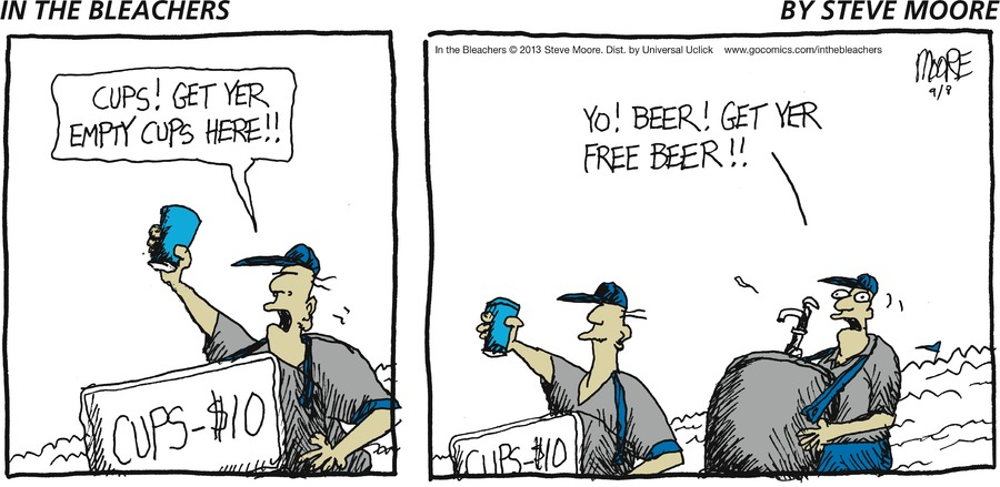 In the Bleachers for Sep 8, 2013 Comic Strip
